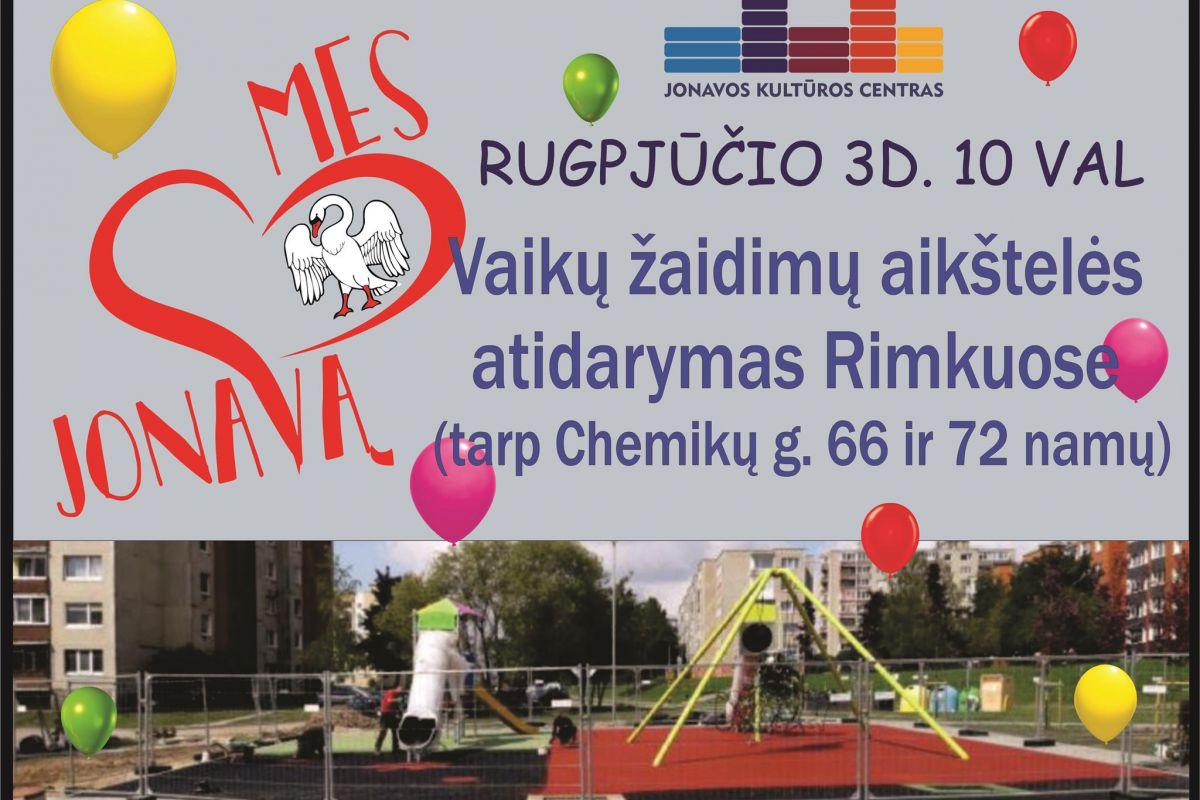 Vaikų žaidimų aikštelės atidarymas
