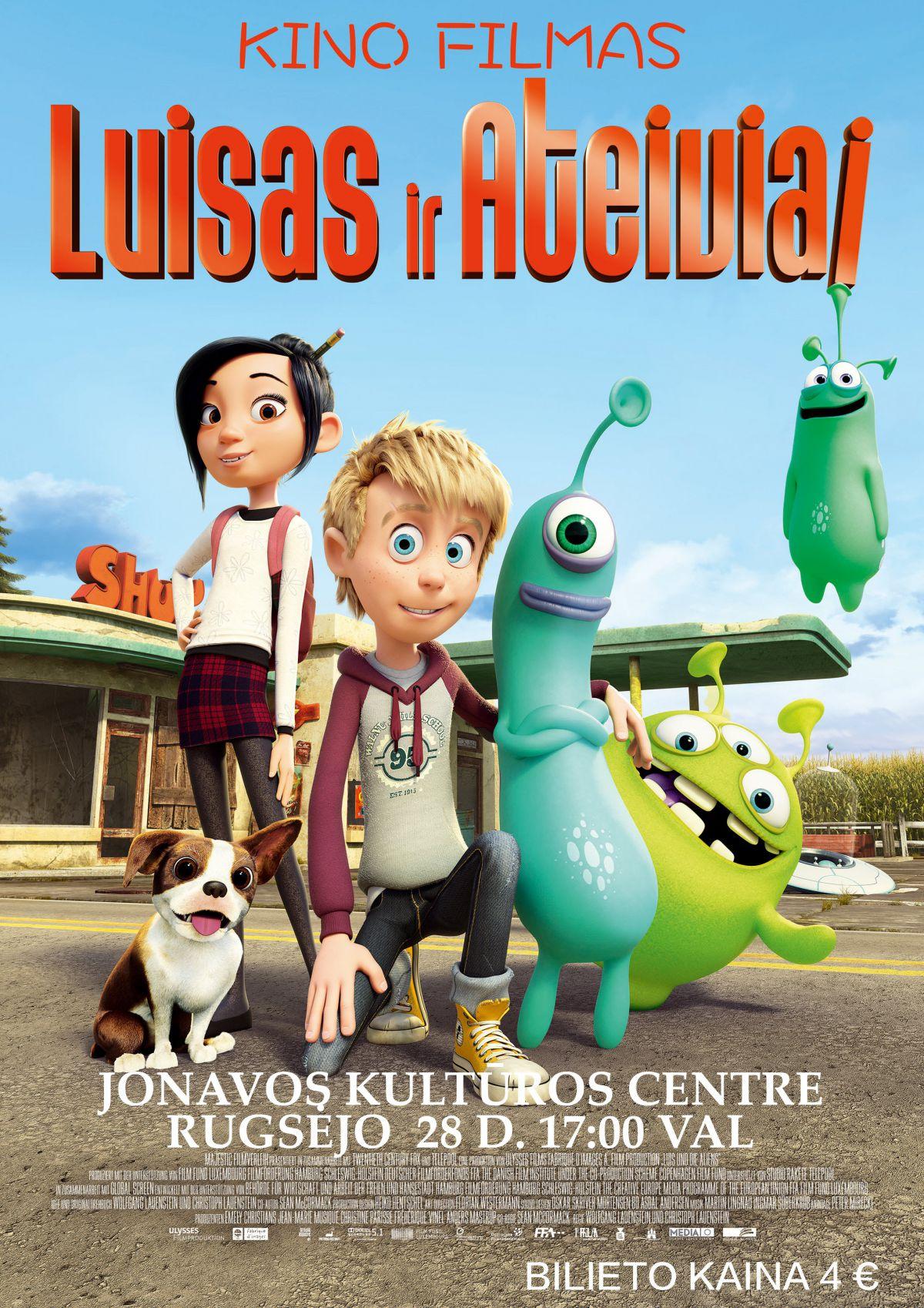 """Kino filmas vaikams """"Luisas ir ateiviai"""""""