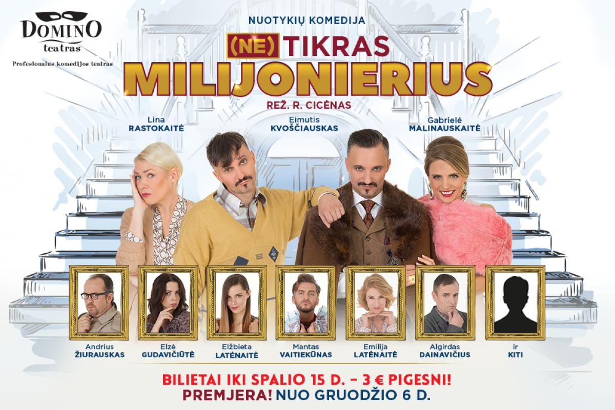 "Domino teatro spektaklis ""Netikras Milijonierius"