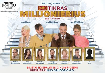 "Domino teatro spektaklis ""Netikras Milijonierius"""