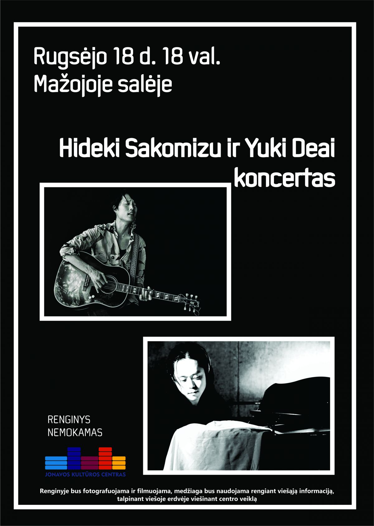 Atlikėjų iš Japonijos Hideki Sakomizu ir Yuki Deai koncertas