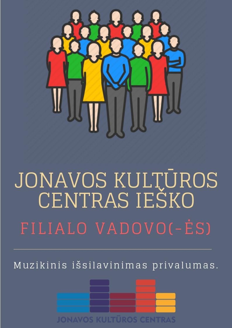 Jonavos kultūros centras ieško filialo vadovo (-ės)