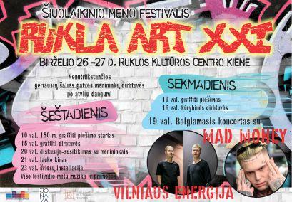 """Šiuolaikinio meno festivalis """"Rukla ART XXI"""" (pirmoji diena)"""