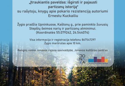 Pėsčiųjų žygis Upninkuose su rašytoju Ernestu Kuckailiu